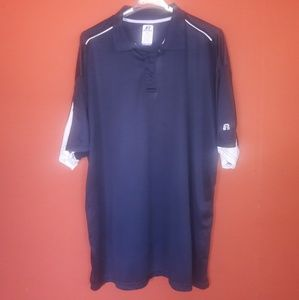 Russell Athletic Navy Blue polo shirt size 4XT